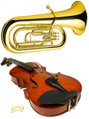 楽器画像 バイオリン チューバ