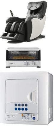不用な家電 マッサージ機 オーブン 乾燥機